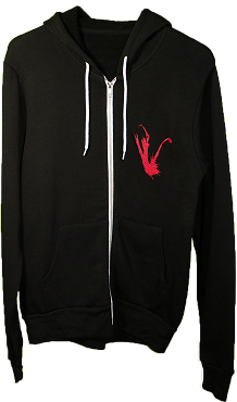 VAPOR TRAIL BLACK FULL ZIP HOODIE